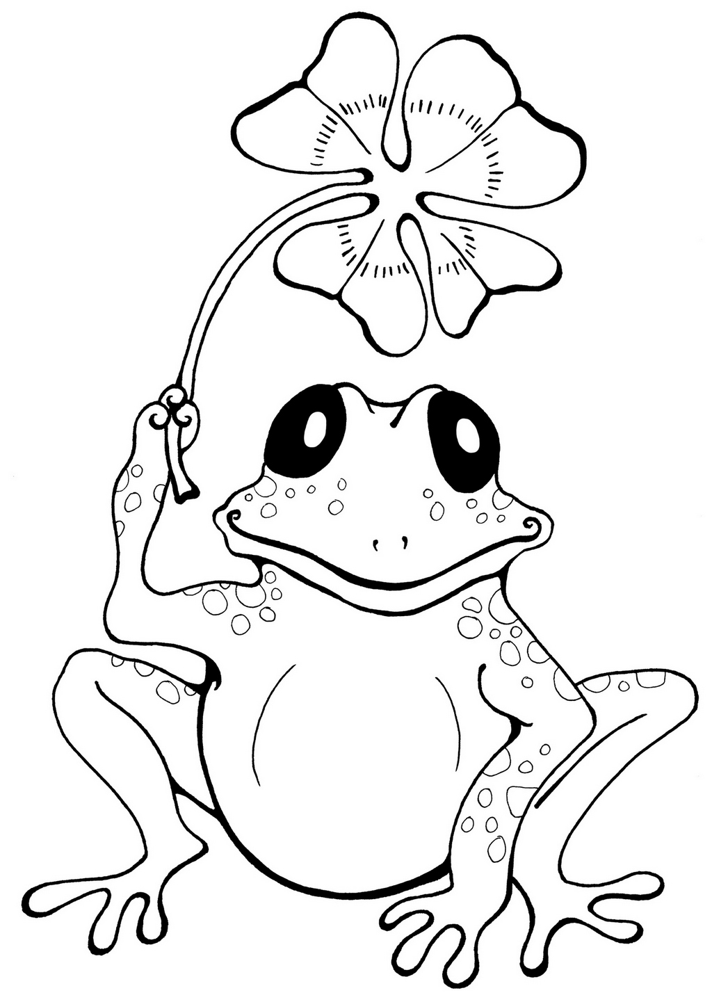 cute frog cartoon coloring book