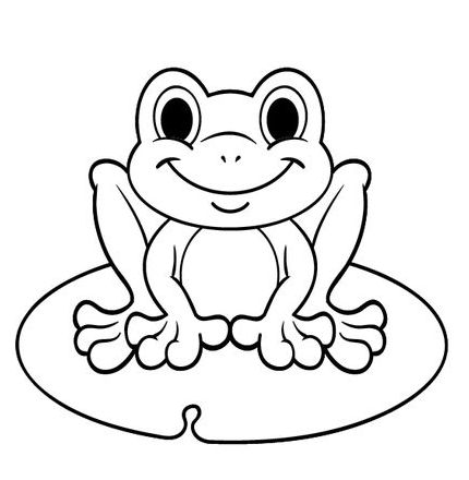 cute frog coloring picture