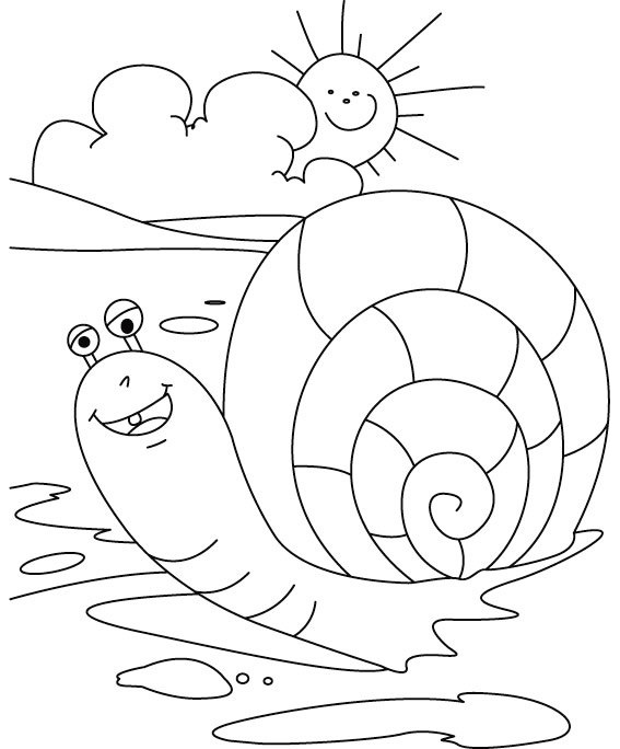 cute snail coloring sheet for little angels