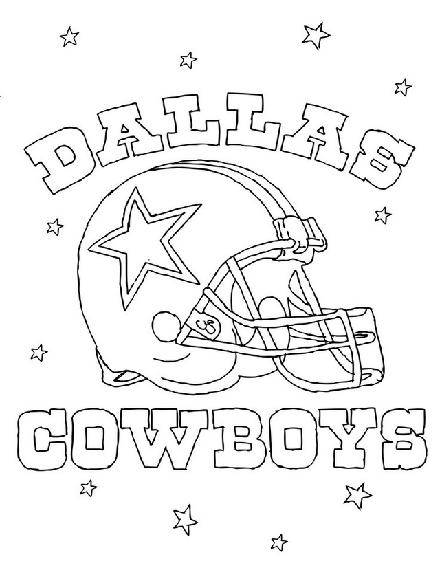 dallas cowboys helmet coloring NFL pages