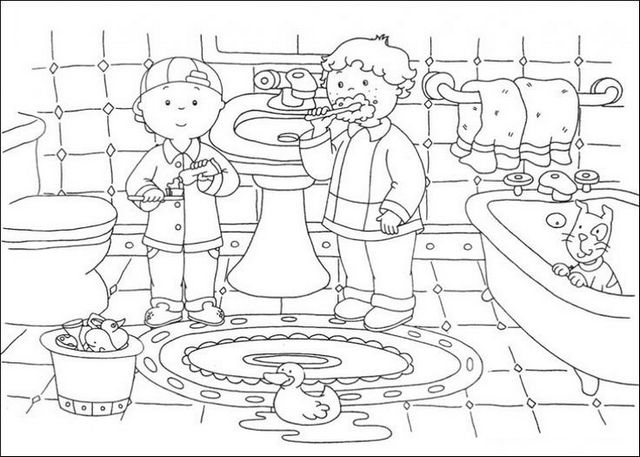 dirty bathroom coloring page for kids
