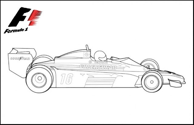 f1 formula 1 coloring and drawing sheet
