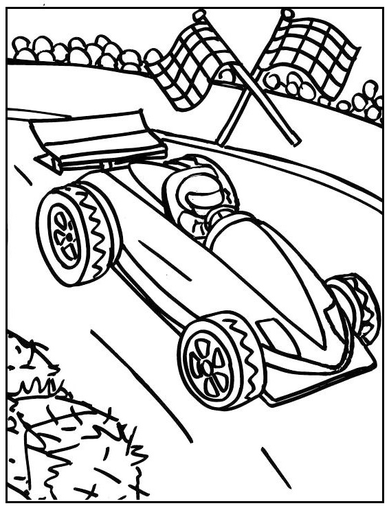 formula 1 coloring picture printable