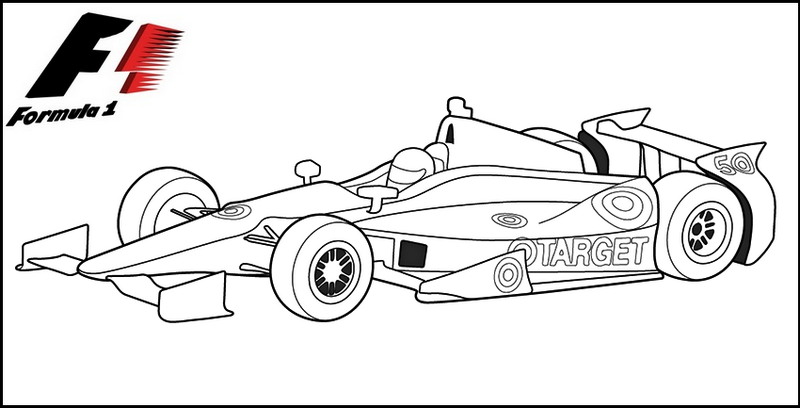 formula one f1 grand prix Coloring Page speed racing car