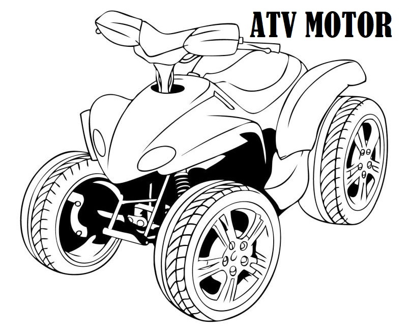 four wheeler atv motor coloring sheet