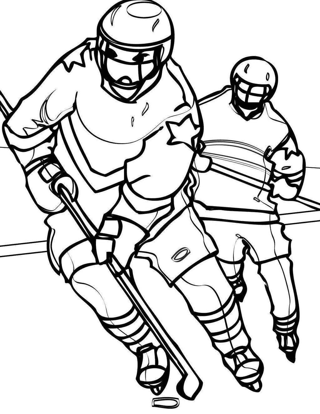hockey jersey and uniform coloring sheet