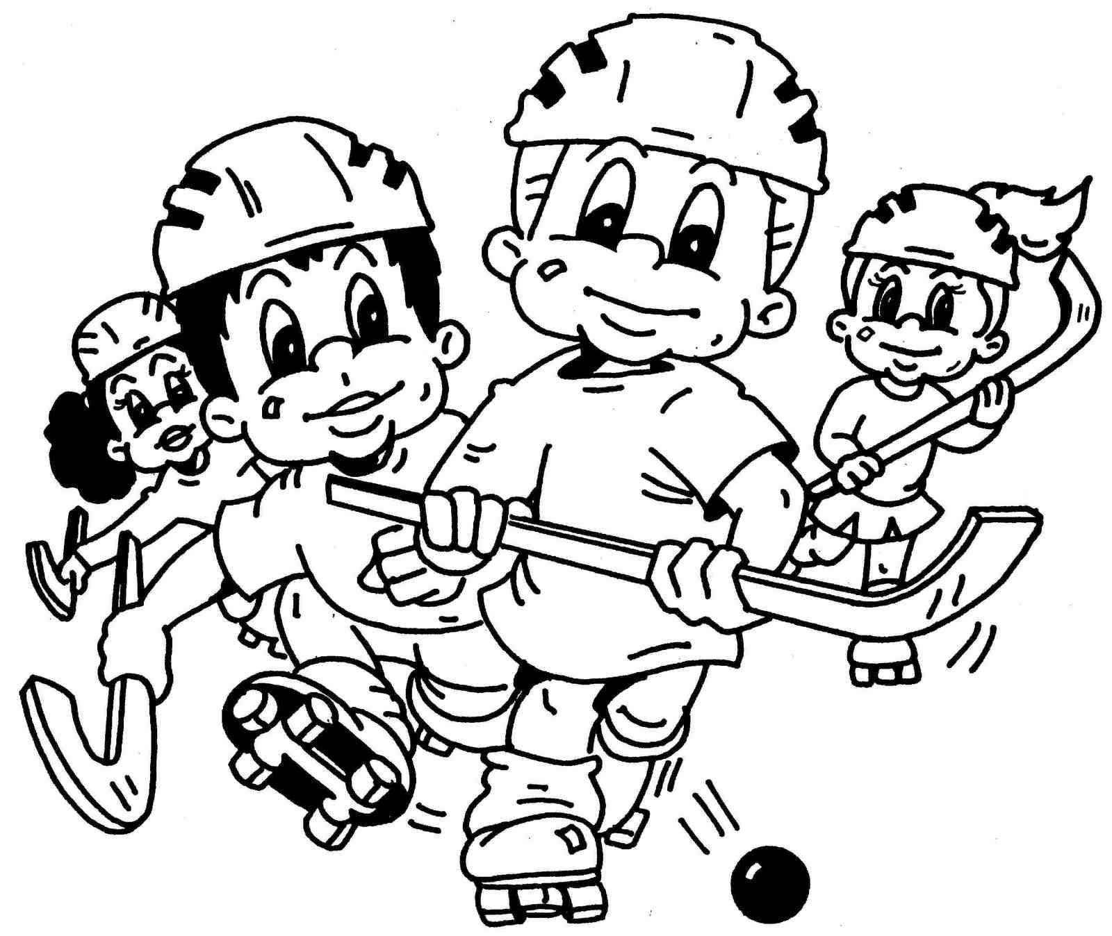 hockey kids coloring sheet printable