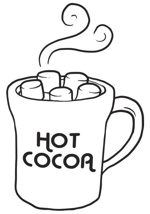 hot cocoa coloring sheet online