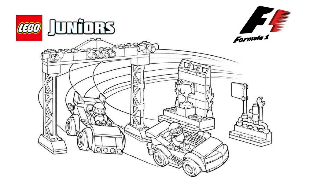 lego formula 1 coloring book