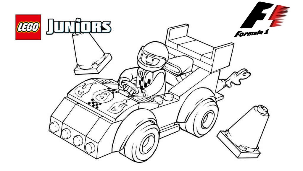 lego racing formula 1 coloring f1 coloring sheet. Black Bedroom Furniture Sets. Home Design Ideas