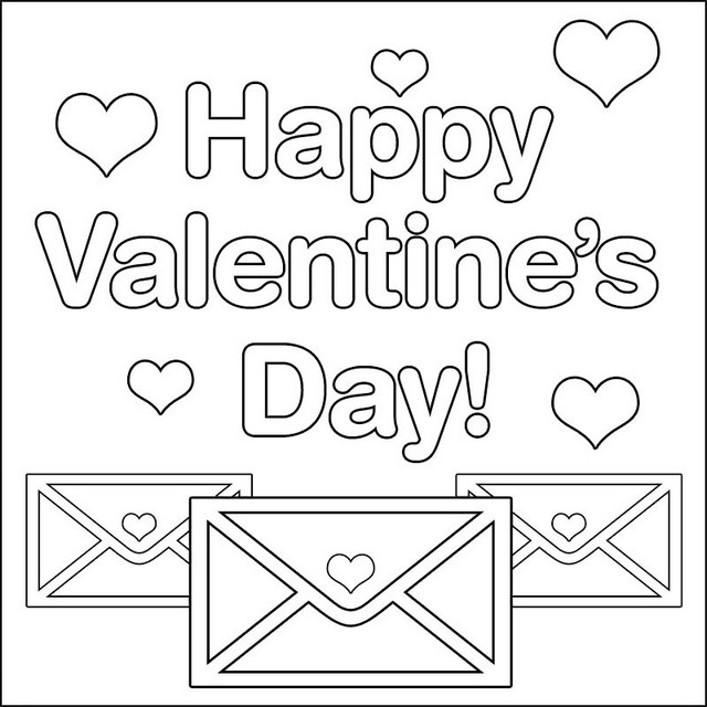 love letter valentines day coloring page