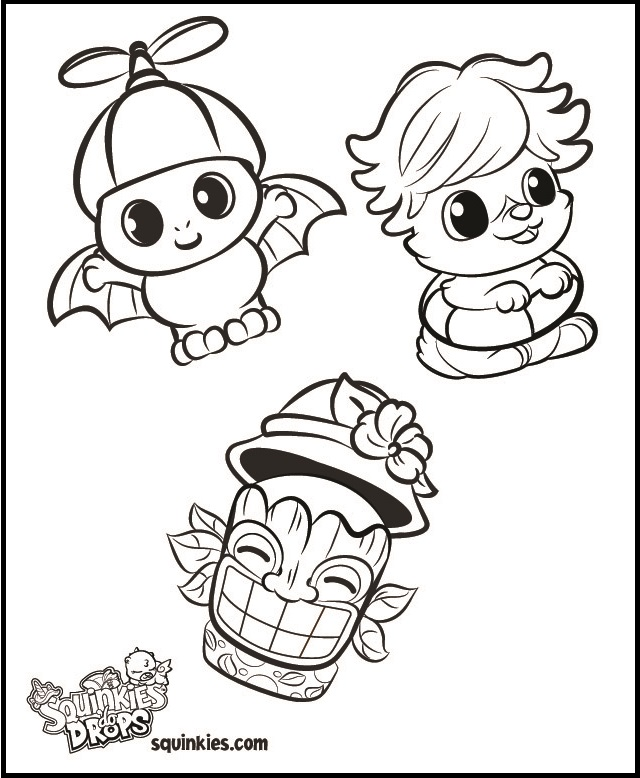 meet the squinkies coloring sheet