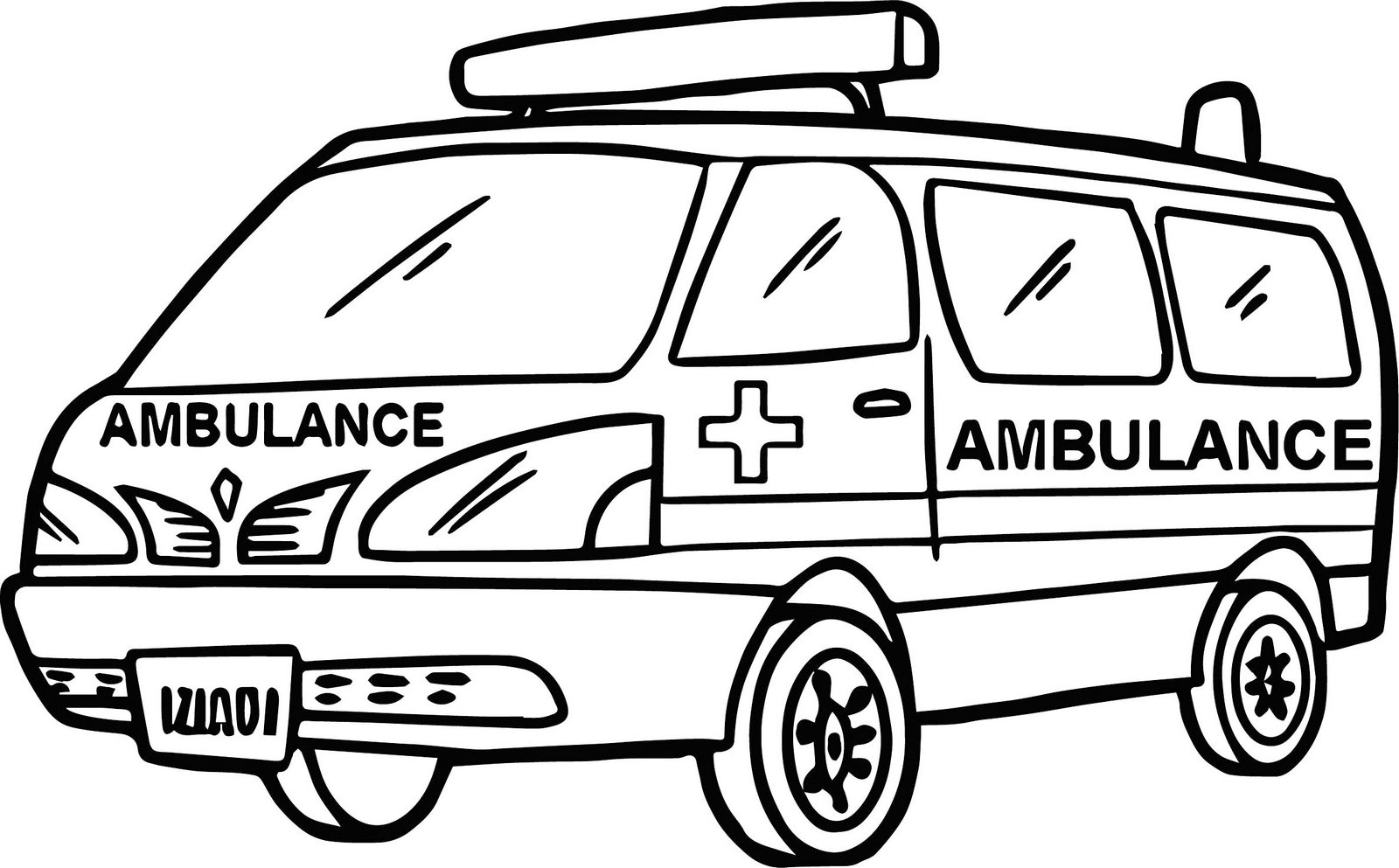 moveable hospital ambulance coloring book