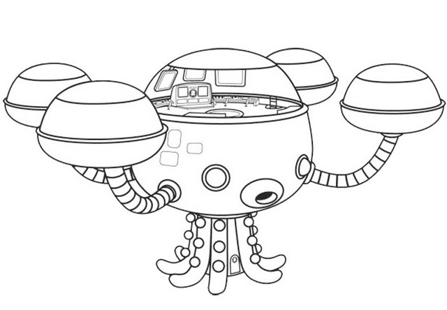 octonaut octocapsule coloring sheet