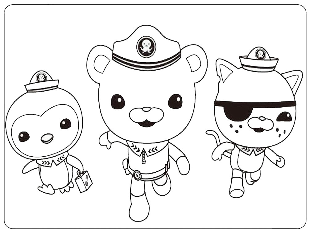 octonauts characters coloring pages
