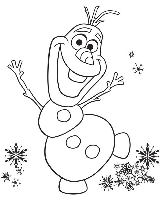 olafs frozen adventure coloring picture