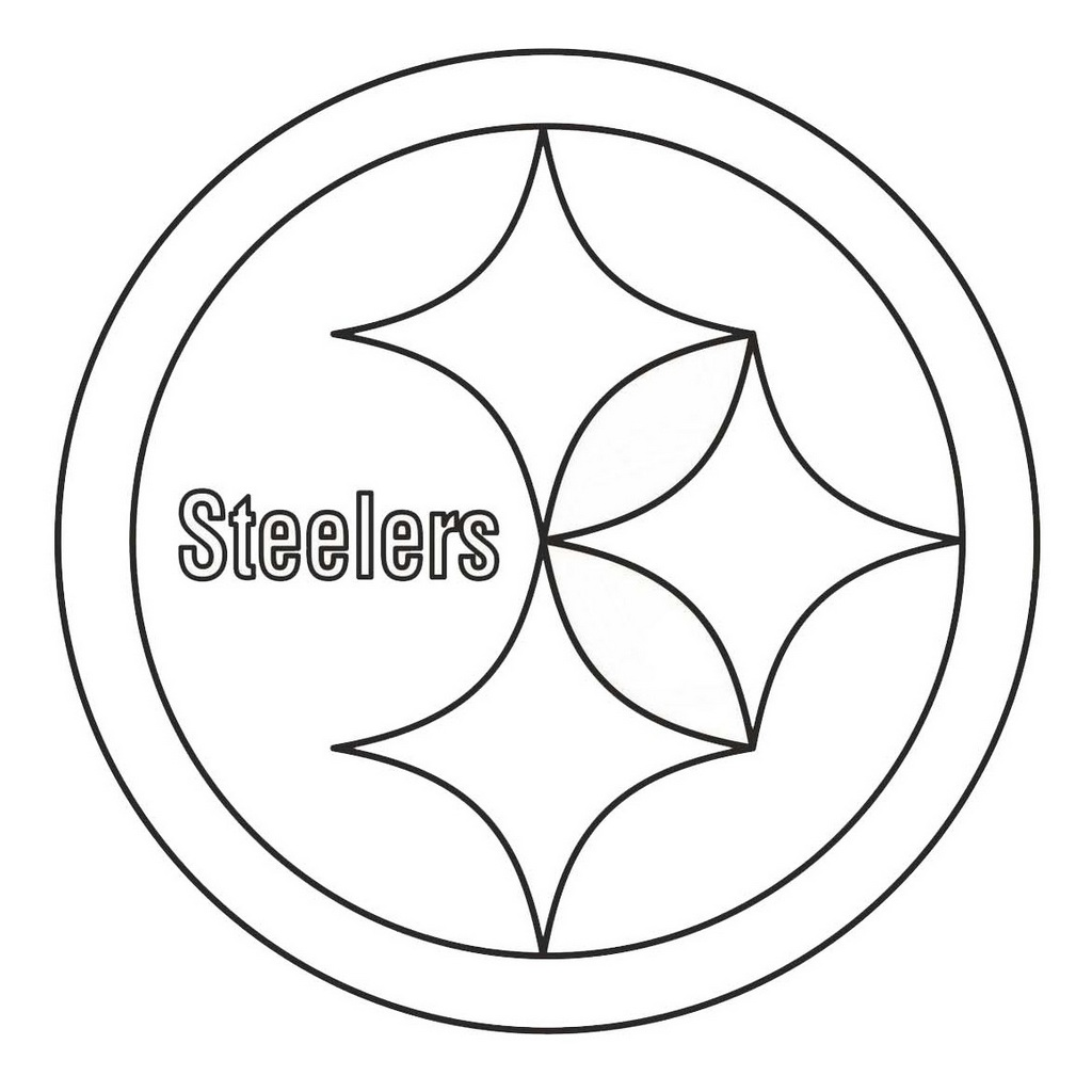 steelers logos coloring pages | pittsburgh steelers from nfl teams coloring logo pages