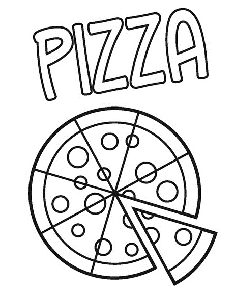 pizza coloring printable page