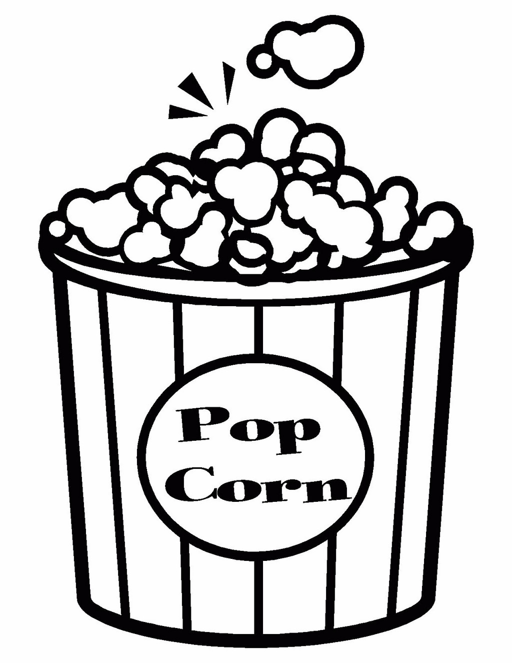 pop corn coloring book for kids