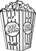 Healthiest Snack Popcorn Coloring Pages