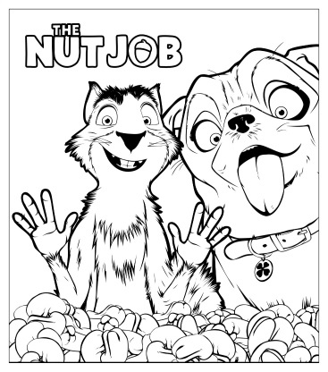 printable the nut job coloring page