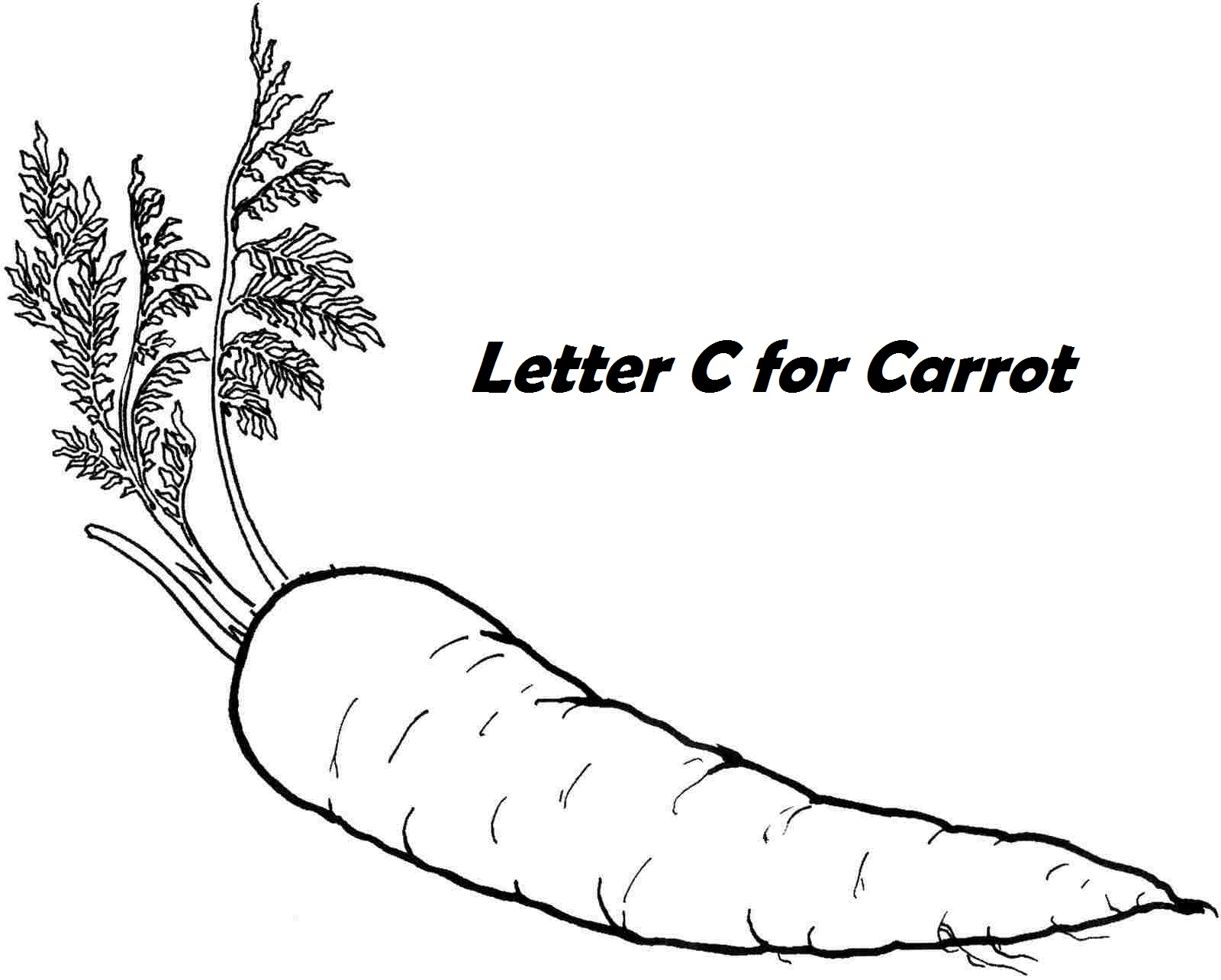 printable letter c for carrot coloring pages vegetables