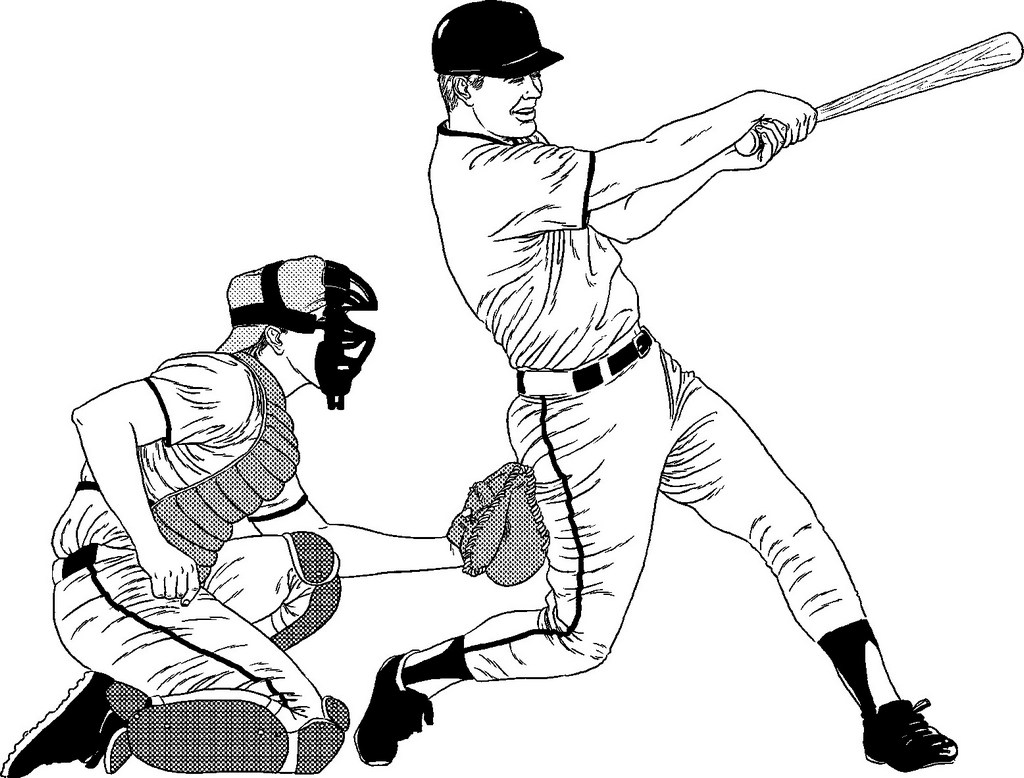 professional baseball coloring healthy life pages