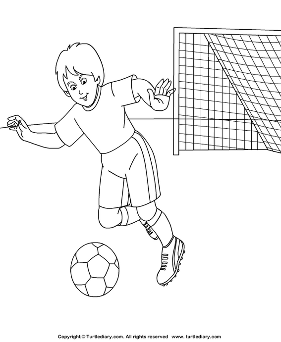 soccer athletics coloring page