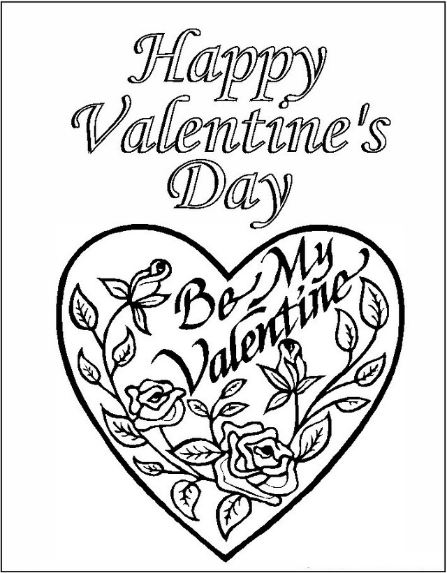 valentine day coloring book be my valentine