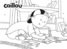 Caillou Coloring Sheets Encourage Children to Act Independently