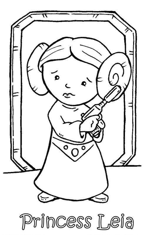 Chibi Princess Leia Coloring Pages for Kids