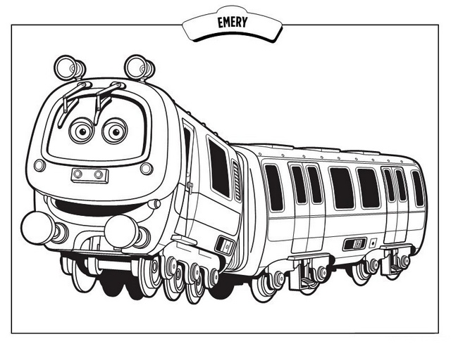 Emery from chuggington coloring sheet