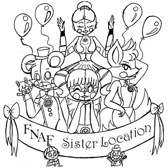 FNAF Sister Location Coloring Pictures