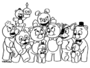 FNAF Coloring Pages for all fans of Five Nights at Freddy's