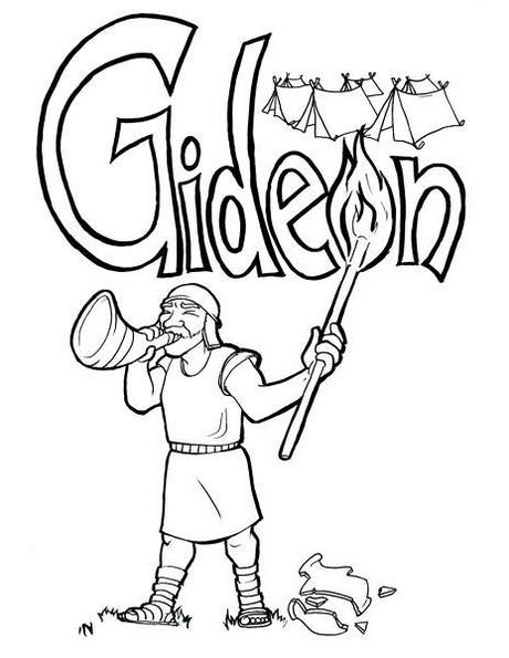 Gideon Israelite Leader Coloring Sheet