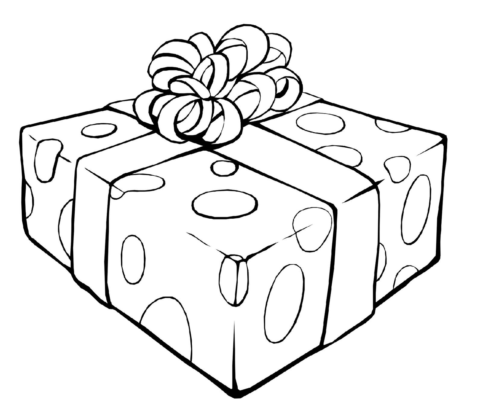 Gift Coloring Page Printable