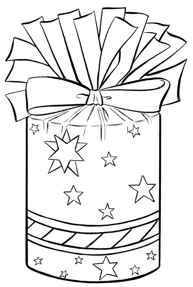 Gift Coloring Sheet Present Picture for Kids