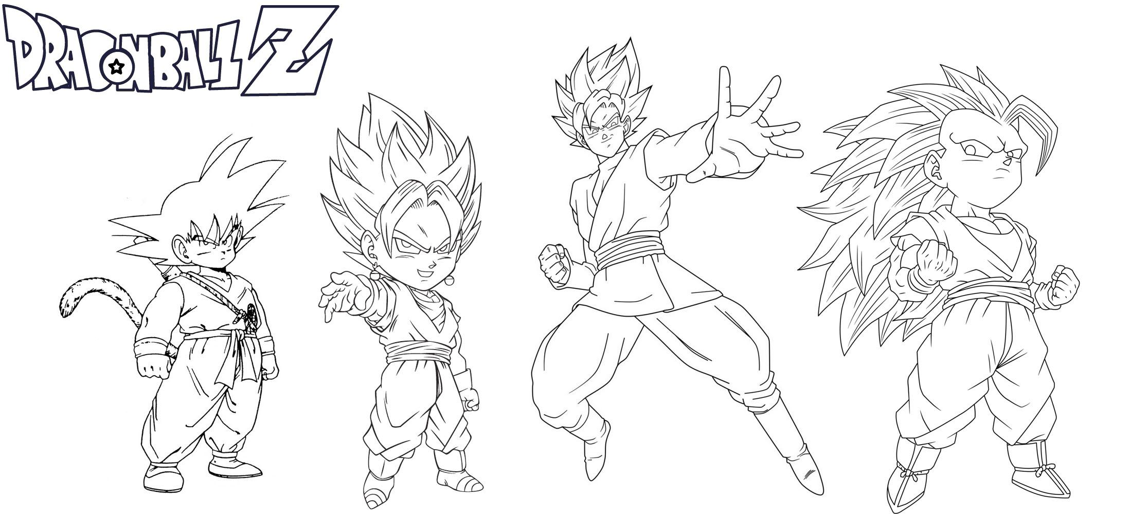 Goku transformation coloring page