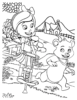 Cheerful and Fun Goldie and Bear Coloring Sheets for Kids