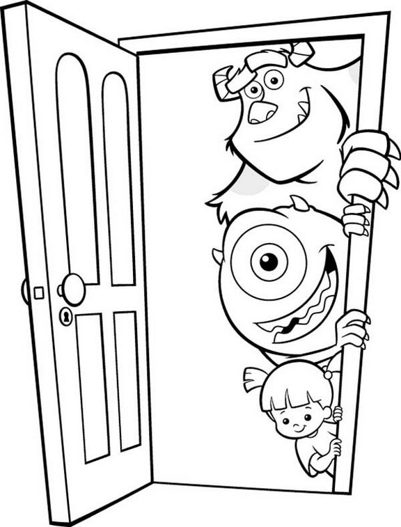monsters inc door coloring pages - photo#4