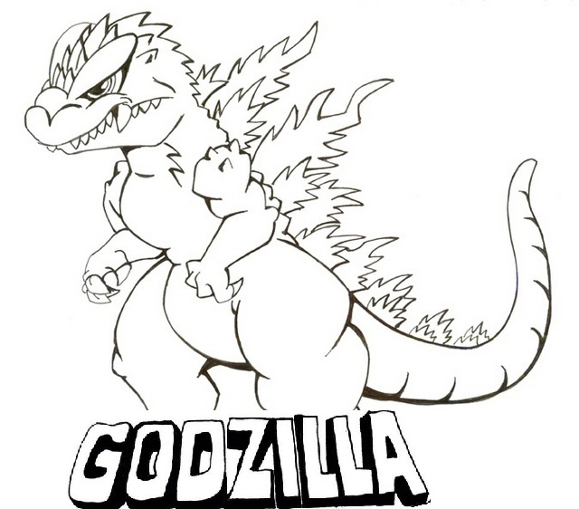 King of Monsters Godzilla Coloring Pages