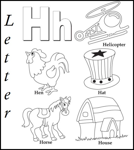 Letter H Coloring Sheet for Kids
