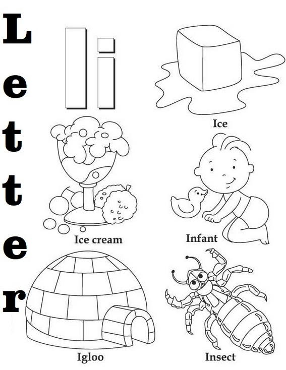 Letter I Coloring Book for kids