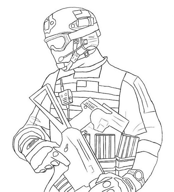 Modern Warfare 3 mw3 Call of Duty Coloring Sheet