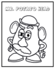 Mr. Potato Head Coloring Sheets for Great Educational Toys