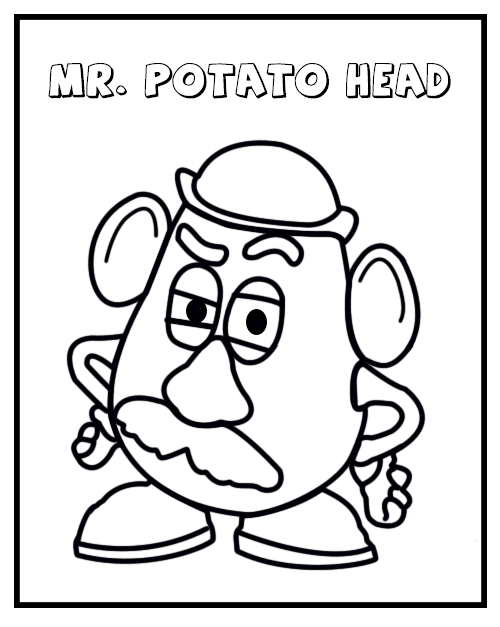 Mr potato head coloring sheet printable