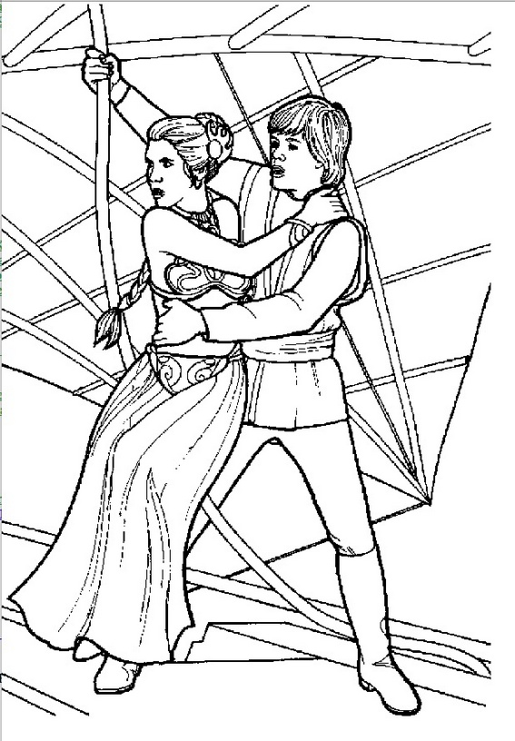 Princess Leia Organa Coloring Sheet