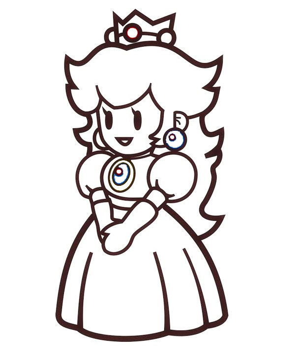Princess Peach Toadstool coloring page