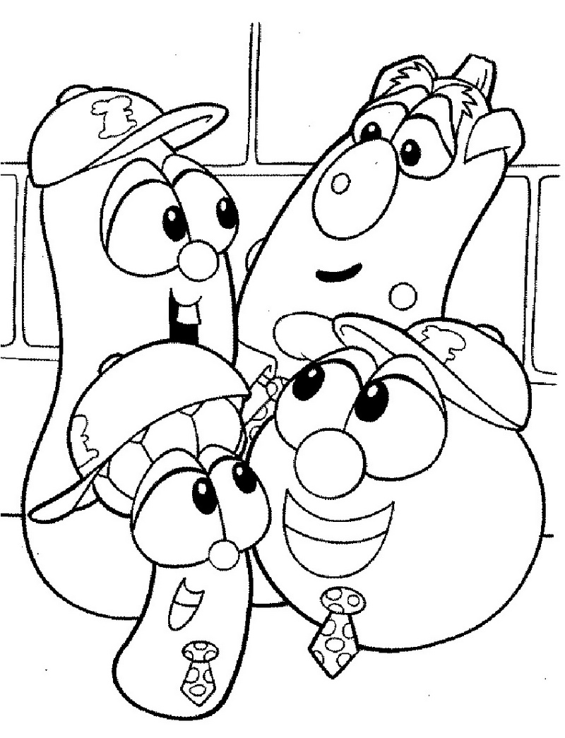 Printable Veggie tales coloring sheet for children