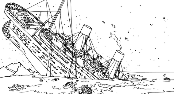 RMS Titanic Coloring Sheet